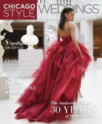 30th Anniversary Addition RED DRESS COVER - Chicago Style WEddings